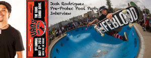 Vans ProTec Pool Party 2013 Interview: Joshua Rodriguez
