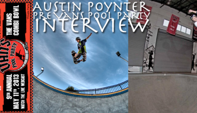 Austin Poynter Pre Vans Protec Pool Party Interview 2013