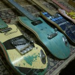 Guitars out from skateboard decks