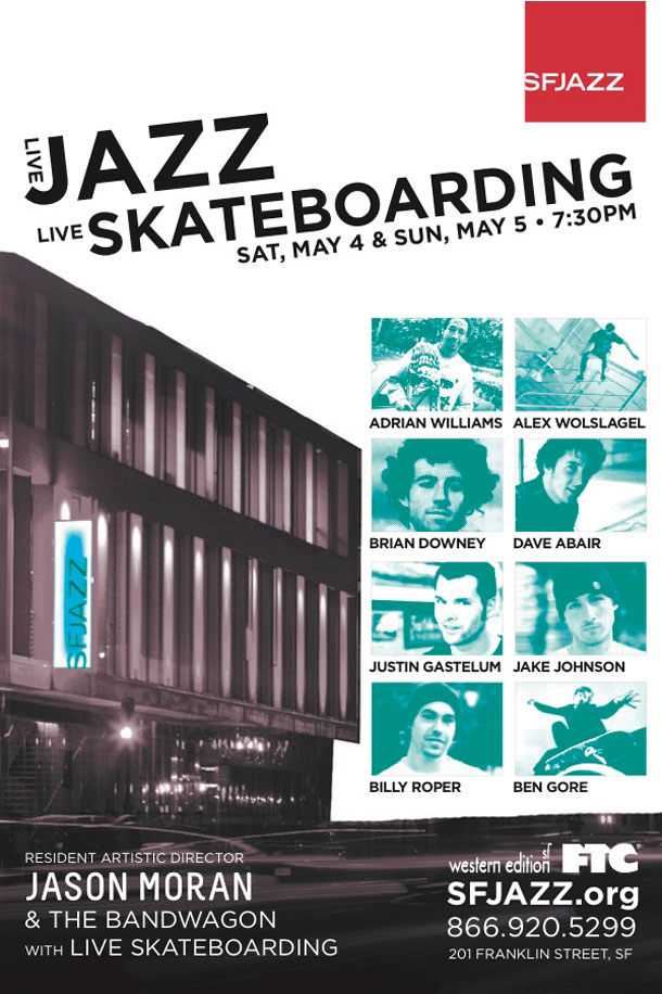 San Francisco JAZZ Center Skateboard